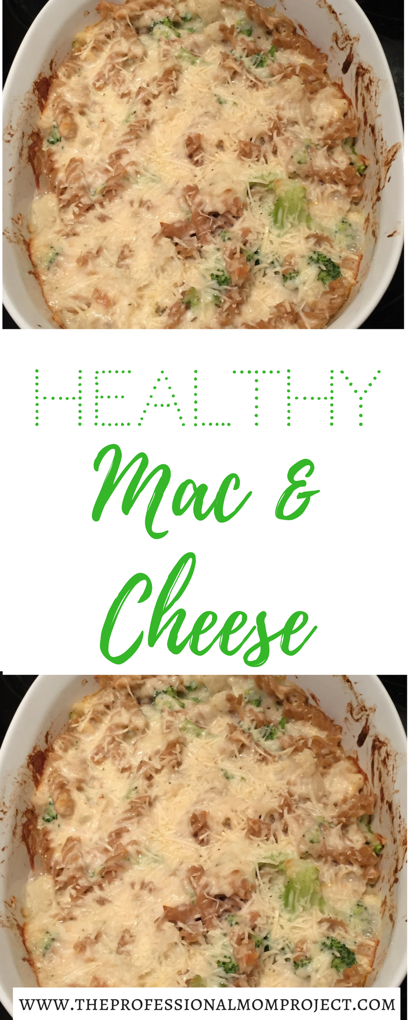 This healthy macaroni and cheese is perfect for a weeknight meal! Enjoy the extra veggies and fiber from the whole wheat pasta, broccoli and cauliflower.
