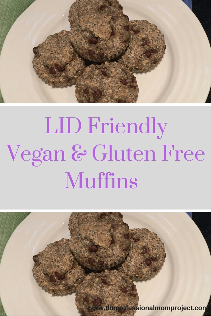 Low iodine diet friendly vegan gluten free muffins