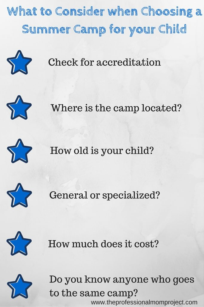 Checklist for choosing the perfect summer camp for your child