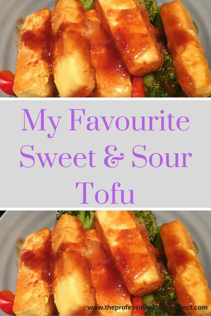 For an easy and healthy dinner look no further than this yummy sweet and sour tofu recipe from The Professional Mom Project!