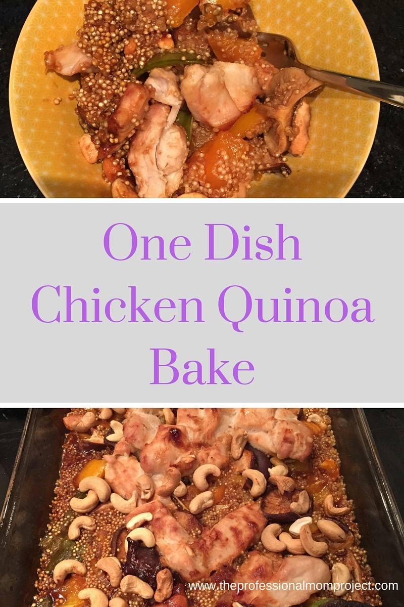 One Dish Chicken Quinoa Bake with Vegetables