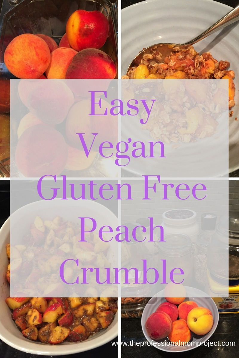 Easy Vegan Gluten Free Peach Crumble