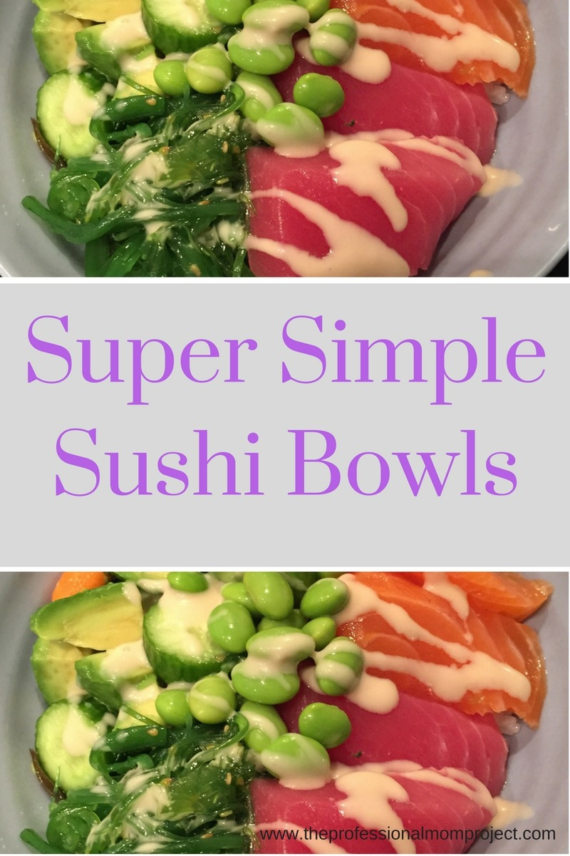 How to Make Super Simple Salmon and Tuna Sushi Bowls