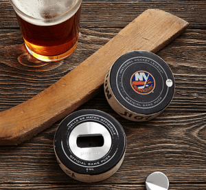 Game used hockey puck bottle opener - perfect anniversary gift for my husband