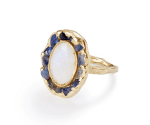 Gorgeous handmade lunar ring
