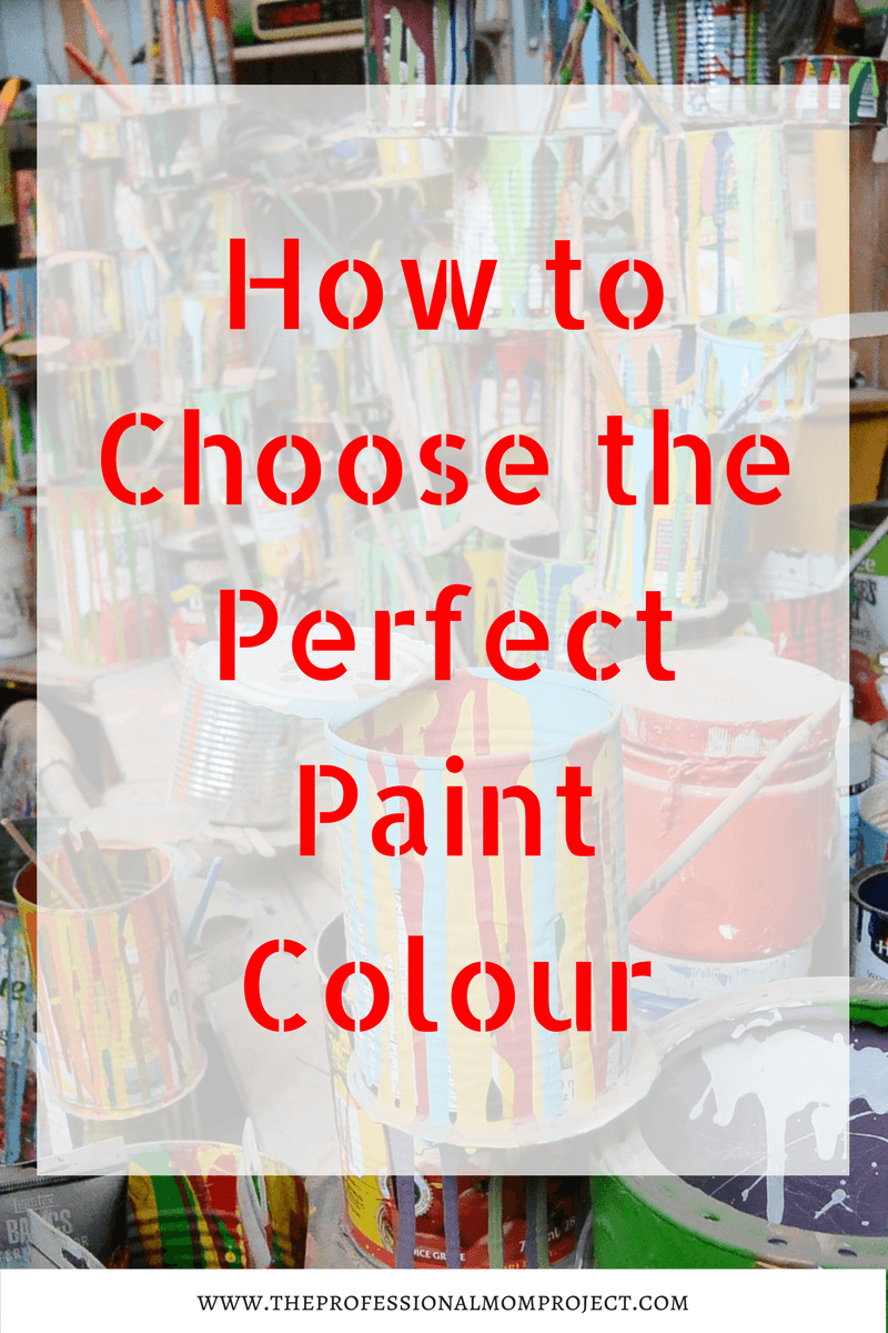 Choosing the perfect paint colour the professional mom for Perfect paint