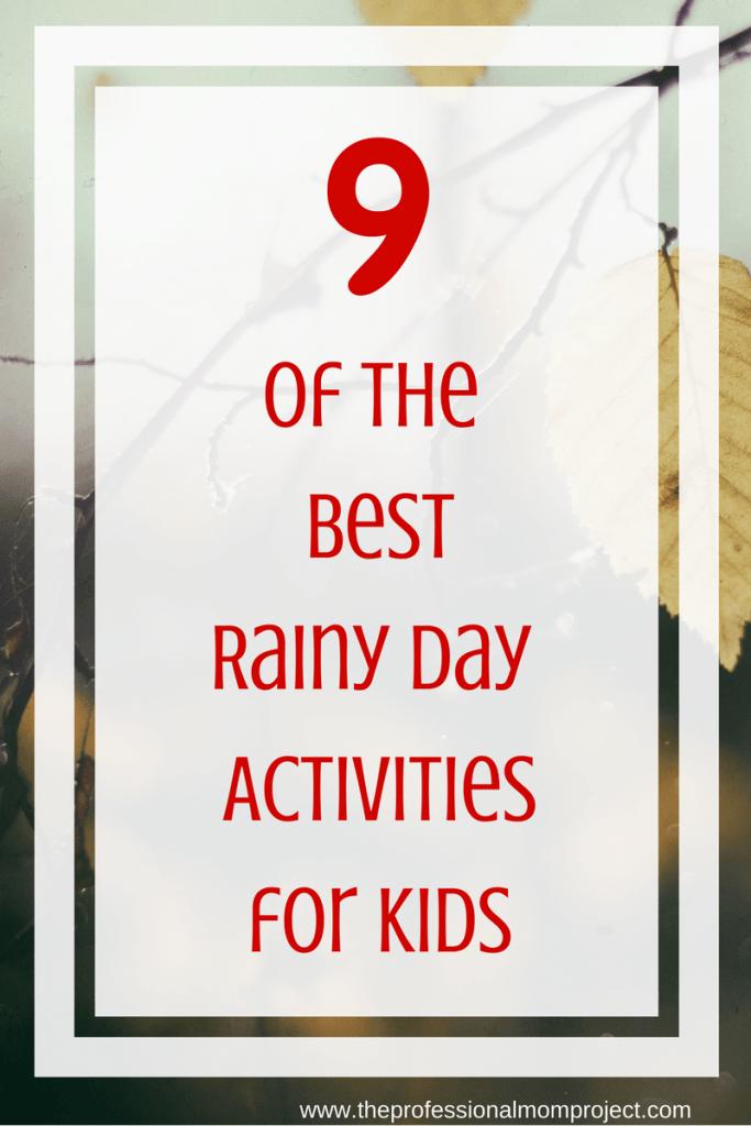 Rainy day activities for kids | Rainy day activities | what to do on a rainy day | rainy day activities for children | rainy day activities for toddlers