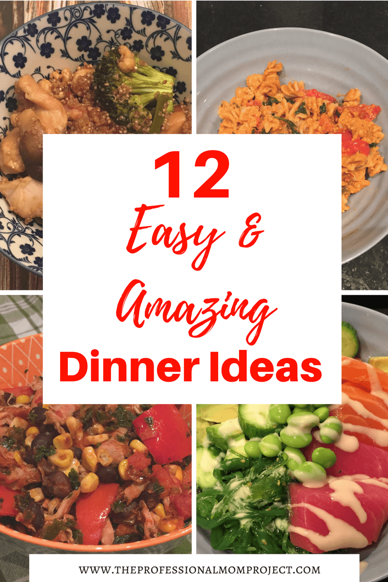 12 Easy dinner recipes perfect for tonight's dinner! Quick meals | Easy Dinner Ideas | Healthy Dinner Ideas | Healthy Dinner Recipes | Easy Meal Idea | Family Dinner