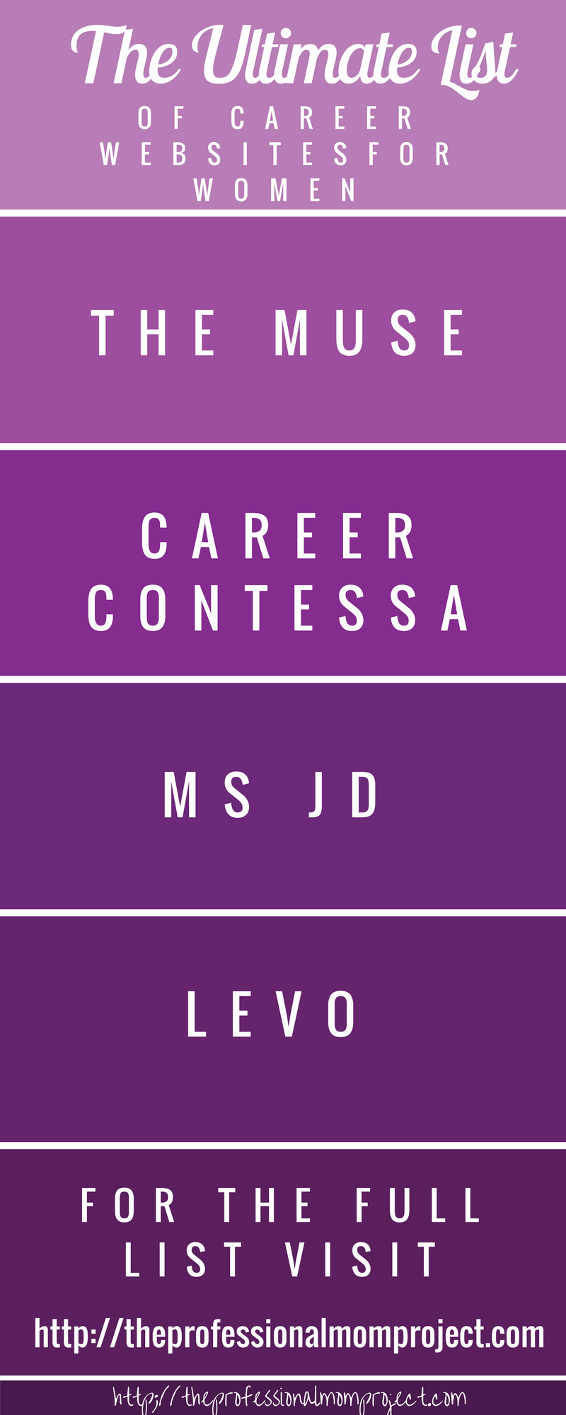 The ultimate list of career websites for women | career advice for women | professional mom | working mom | career tips
